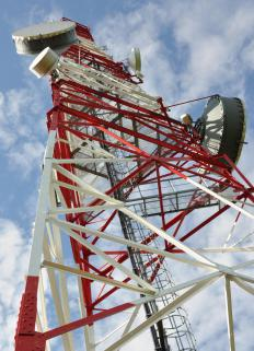 Cell towers are part of telecommunications networks.