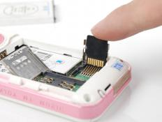 Memory cards are found in many cell phones.