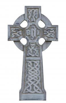 Celtic crosses are often depicted in Celtic cross stitch.