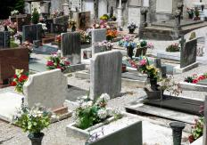 Funeral directors may officiate ceremonies at a cemetery.