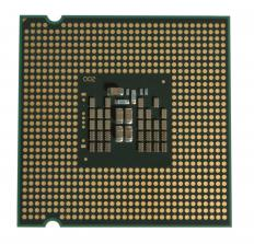 An Intel CPU chip.