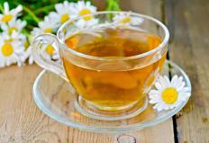 Chamomile tea may help to relax muscles.