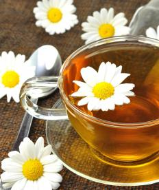 Chamomile tea may be used for headache treatment as opposed to prednisone use.