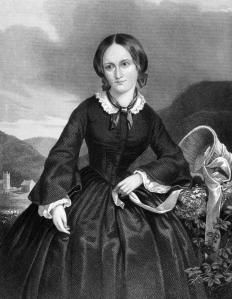 "Charlotte Bronte refers to a traveling dress made of ""black stuff"" in her novel ""Jane Eyre."""