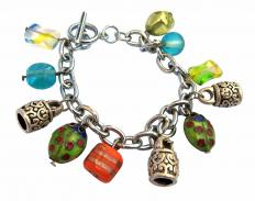 A charm bracelet allows a wearer to add or remove charms as she pleases.