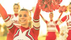 Cheerleaders may perform handsprings in their routines.