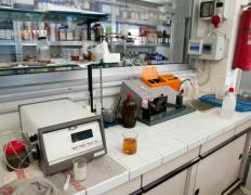 Chemical analysis processes are generally performed in specialized chemistry laboratories.