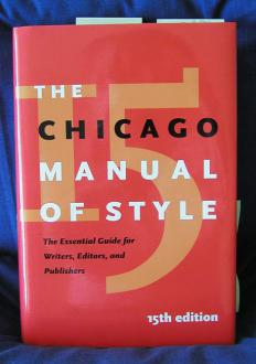 Most businesses choose the Chicago Manual of Style to dictate grammar.