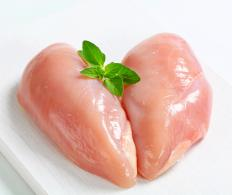 Chicken fillets are boneless cuts of breast meat.