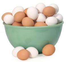 Brown and white vegetarian eggs.