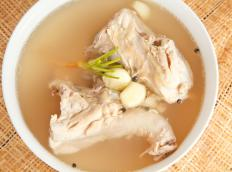 Many cooks use chicken feet as an ingredient in soup stock.