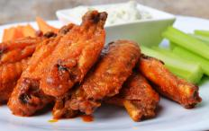 Bleu cheese is a common dipping sauce for wings.