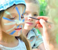 Face painting is a popular activity for attracting attention for an event, such as a community festival.