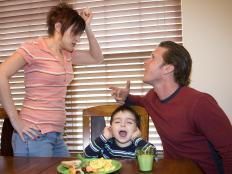 Problems at home between parents may cause a child to become hyperactive.