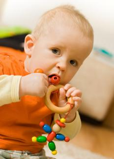 Excessive gnawing or biting may be signs that a child is teething.