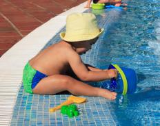 A pool fence can keep small children away from the water.
