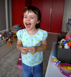 Children with emotional disorders may throw temper tantrums.
