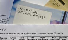 Papers about paying child support.