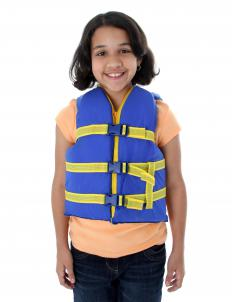 A girl getting ready to go on a pedalo.