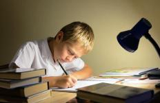Middle school children average two hours of homework nightly.
