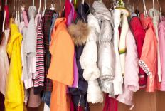 Winter clothing usually takes up more space in a closet.