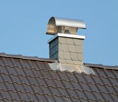 A chimney cover may help prevent snow, water, and ice from entering a home through the opening at the top of a chimney.