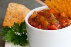 Salsa and chips make an easy and tasty appetizer.