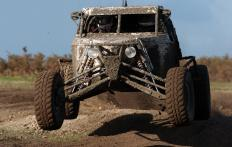 The shocks on a 4x4 are designed to support load transfer.