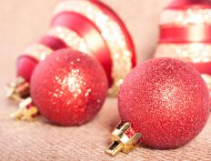 Christmas ornaments are often liberally coated in glitter.