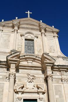 The Jesuit Church of St. Ignatius is in Dubrovnik.