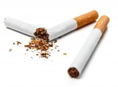 Nicotine addiction can cause a sore throat and white tongue.