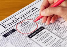 Temporary jobs may be listed in a newspaper's classified section.