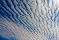 Supercooled water droplets are present in small quantities in cirrocumulus clouds.