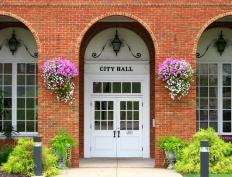 City halls are an example of a building that can have a tax exempt status.
