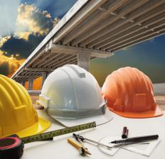 An area supervisor may need safety equipment, such as a construction helmet.