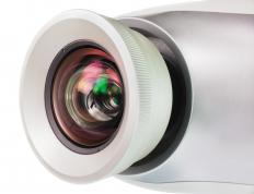 Elmo projectors, or document projectors, use a video camera.
