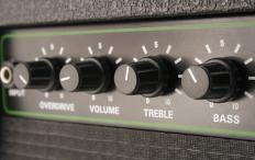 Death metal is played on guitars through amplifiers with heavy distortion.