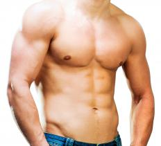 Defined rectus abdominis muscles are often referred to as six-pack abs.