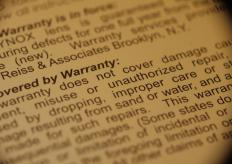 Many warranties will indicate a time frame in which the warranty is valid, usually 90 days or one to three years.