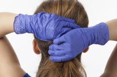 When dying hair, it's recommended to wear gloves to prevent staining the hands.