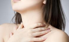 A person with a throat infection may have a sore throat or may experience a choking sensation.