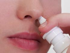 Some decongestants come in nasal spray form.