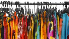Clothing factories produce apparel, which is then sold in stores.