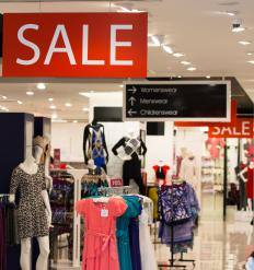 Cross merchandising is commonly used in retail clothing sales.