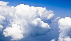"Literal clouds, the inspiration for the term ""head in the clouds.""."
