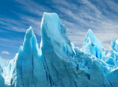 Glaciers form over hundreds of years.