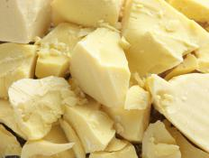 Cocoa butter is a basic ingredient in many body butter creams.