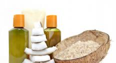 Coconut oil is a popular massage oil.