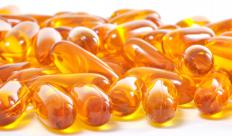 Often a good source of vitamin D, fish oil supplements are rich in healthy fats, such as omega-3 fatty acids, eicosapentaenoic acid and docosahexaenoic acid, commonly called DHA.