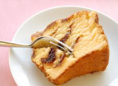 Coffee cake is typically sweet and crumbly.